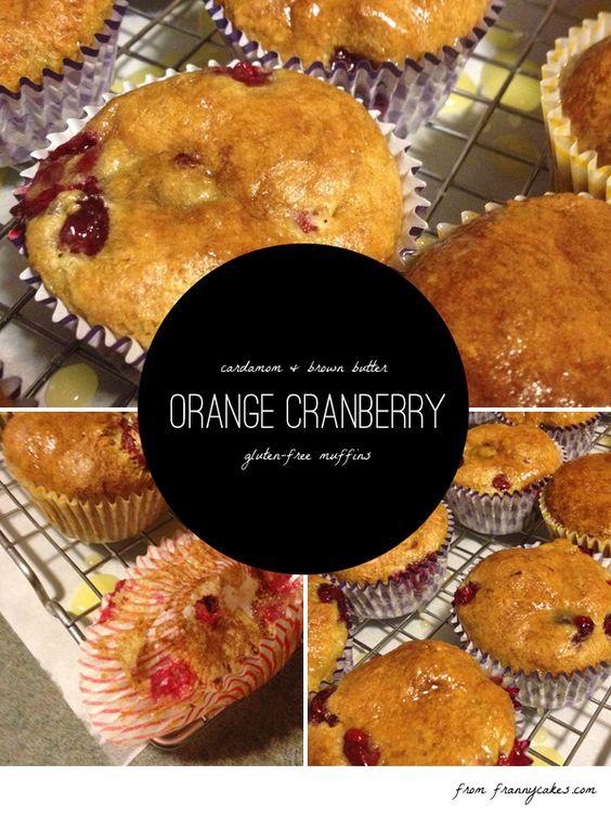 gluten free orange cranberry muffins