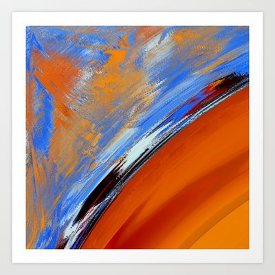 What  Colour is the Sky on Your Planet ? Art Print by David  Gough - $15.00