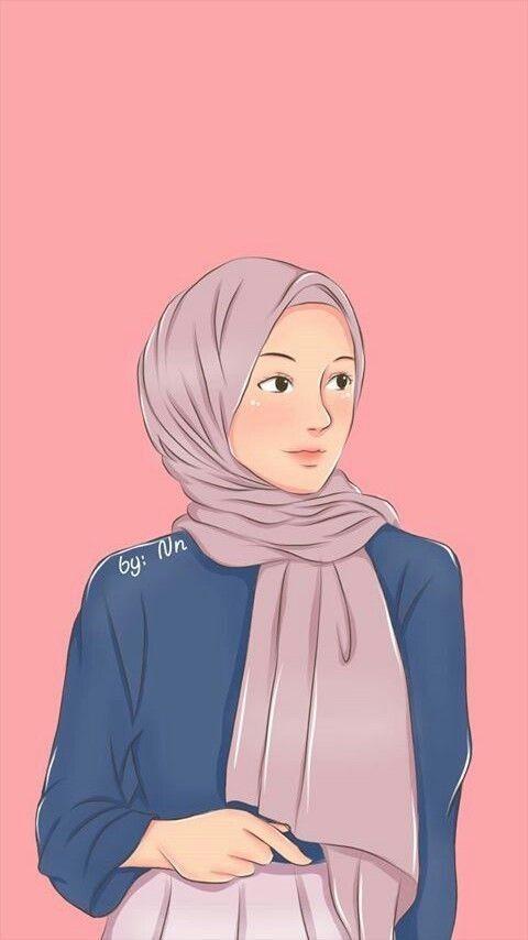 Anime Hijaber Cantik Pink Di 2020 Gambar Gambar Mode Ilustrasi Orang