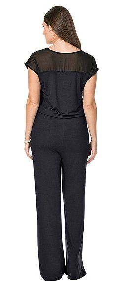 sheego Trend Lässiger Jumpsuit - schwarz