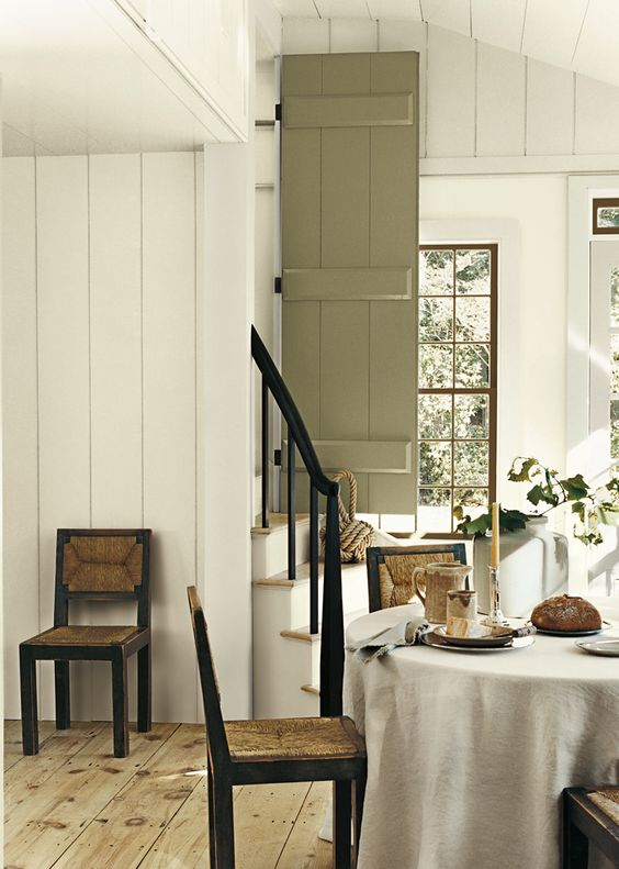 Ralph lauren white wood walls and plaster on pinterest for Soft neutral paint colors