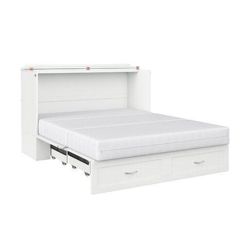 Audet Solid Wood Storage Murphy, Queen Murphy Storage Platform Bed With Mattress