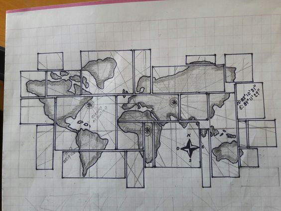 Boceto planisferio