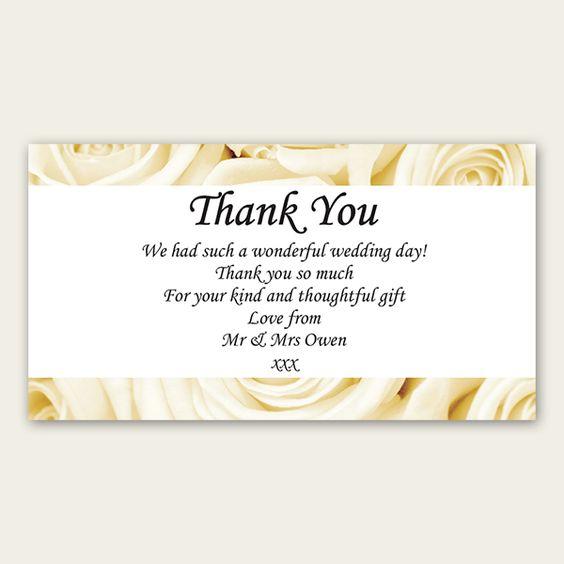 Wedding Thank You Note Wording: Wedding Thank You Wording