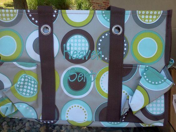 "thirty one diaper bag - ""Heaven Sent"" such a cute personalization! Janna-    www.mythirtyone.com/387763/"