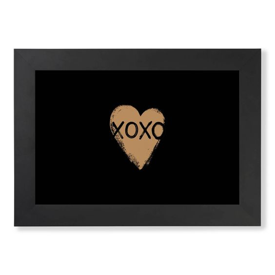 XOXO Forever-Gold on Black