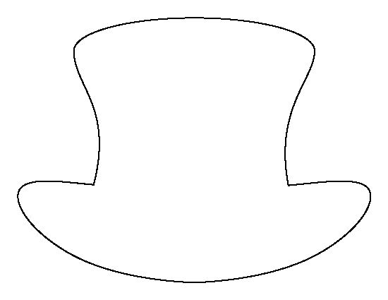 Top hat pattern. Use the printable outline for crafts, creating ...