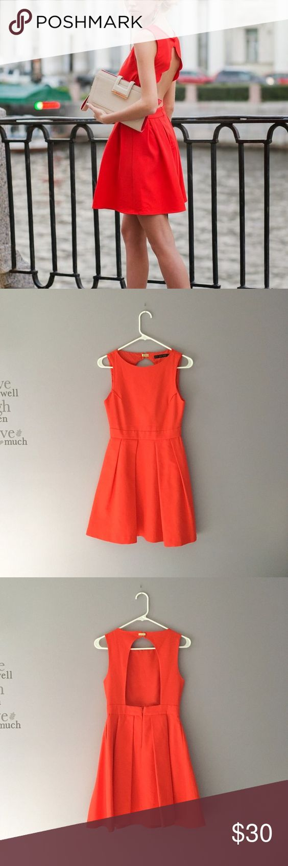 Zara open back flare dress cute dresses flare and the oujays