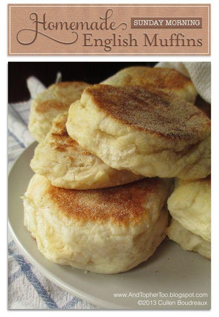 AndTopherToo: Homemade English Muffins #Homemade #Breakfast | And ...