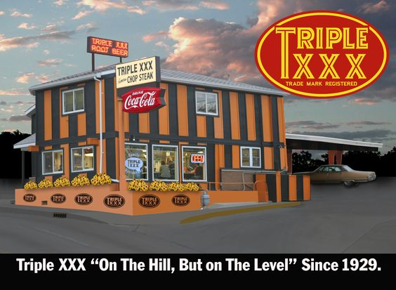On the levee and on the level, great burgers.