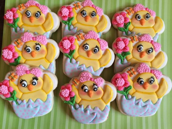 Spring/Easter chick cookies