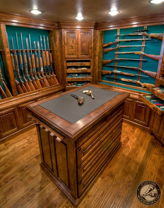 Pinterest the world s catalog of ideas for Built in gun safe room