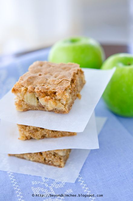 Apple Brownies...these look awesome!