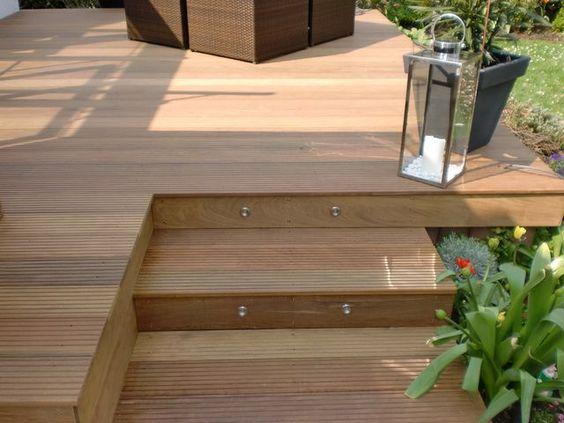 Aufgang Holz Terrasse Pinterest Holz, Holzterrasse und Bangkirai - bankirai terrasse verlegen vorteile