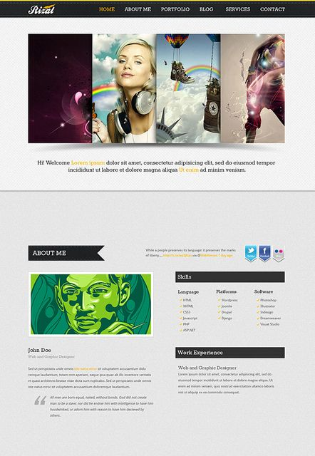 Rizal - a Single Page Template http://webtempo.ch
