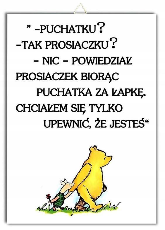Plakat KUBUŚ PUCHATEK cytat napis Prosiaczek 7605194269 - Allegro.pl