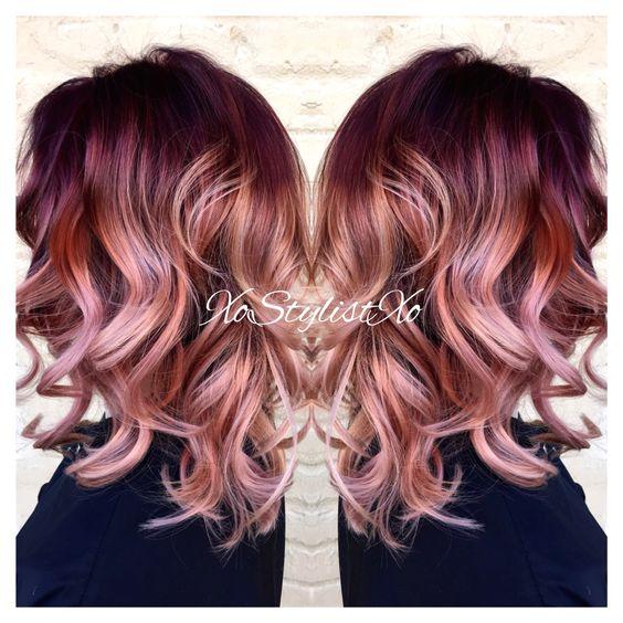 Red violet blush sombre. XoStylistXo | Ash Stylz hair ...