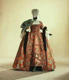 "Dress (""robe à la française"") c. 1760  (fabric: c. 1750)- France"