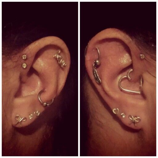 how to take out a double helix piercing