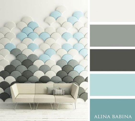 15Combinaciones ideales decolores para interiores azules claros: