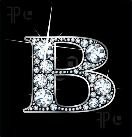 B Letter In Diamond Pinterest • The worl...