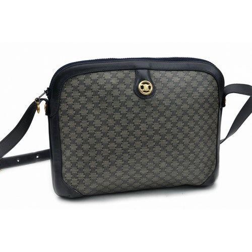 Pre Owned Celine Navy Cloth Handbag Modesens Handbag Outfit Women Handbags Celine Handbags
