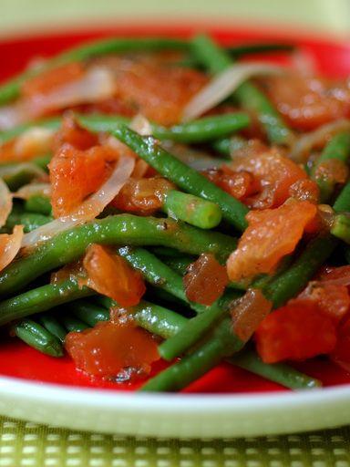 Haricots verts à la provençale - Recette de cuisine Marmiton : une recette