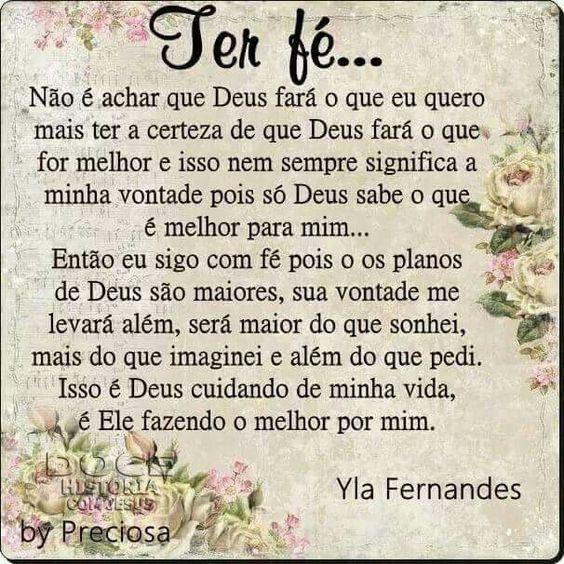 #Ter fé sempre!!!