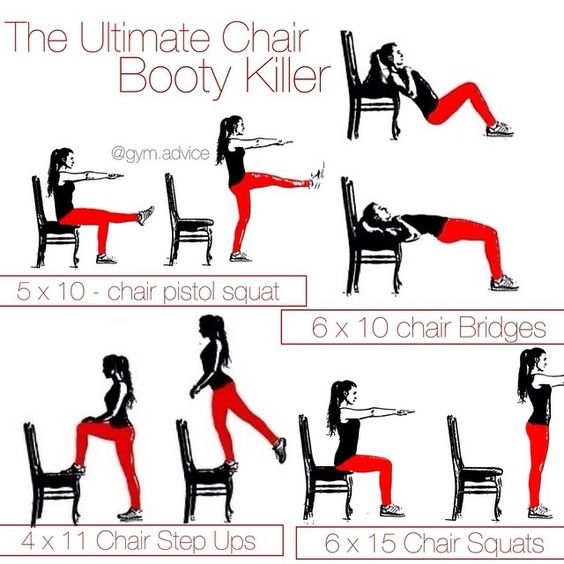 The ultimate chair booty killer hey lovely for Chair workouts