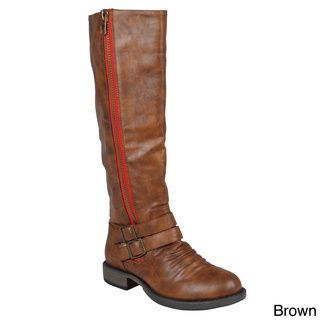 Journee Collection Women's 'Lady' Tall Buckle Detail Boots   Overstock.com Shopping - The Best Deals on Boots