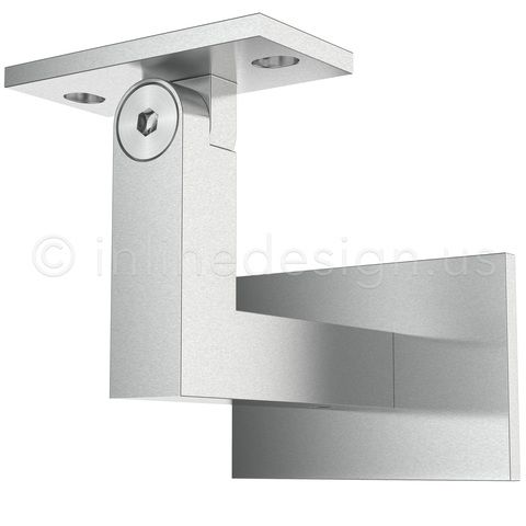 Handrail Bracket Square Adjustable Stainless Steel Handrail Wall Brackets Handrail