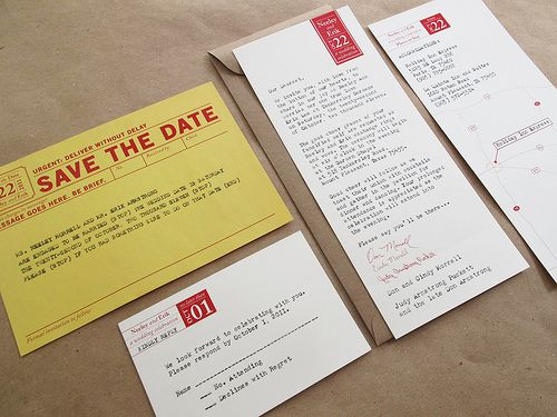 vintage typewriter wedding invitations