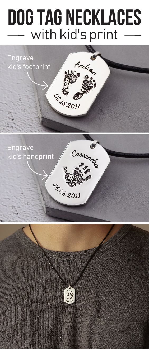 Mens Dog Tags Necklace Customize Dog Tag Customized Necklace For Him Leather Cord Necklace L Baby Gifts For Dad First Time Dad Gifts Gifts For New Dads