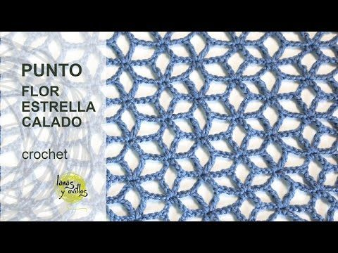 getlinkyoutube.com-Tutorial Punto Flor Estrellada Calado Crochet o Ganchillo en Español