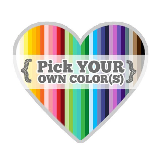 Set of 40  PICK YOUR OWN Colors  2 1/2 inches wide  by HelloDonna, $4.99