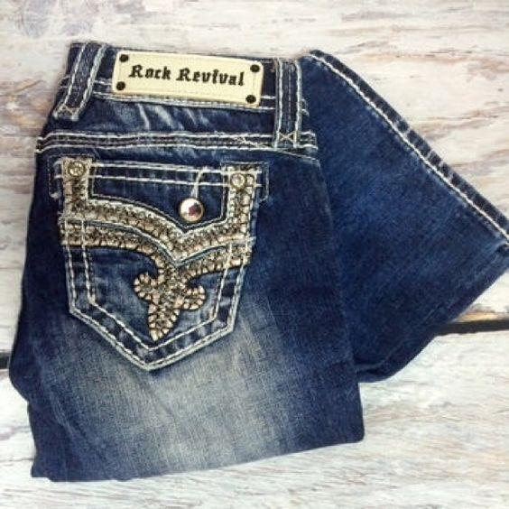 Rock Revival Jeans 27 x 32. Perfect condition. Rock Revival Jeans Boyfriend