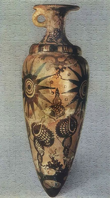 Minoan vessel with marine style decoration 1500 bc for Ancient greek decoration