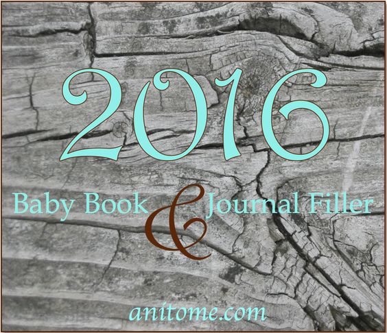 2016 Cost of Things, World Leaders, Headlines, Trends for baby books and other keepsake projects.