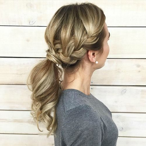 20 Hairstyles For Greasy Hair That Hide Oily Roots French Braid Ponytail Greasy Hair Hairstyles Braided Ponytail