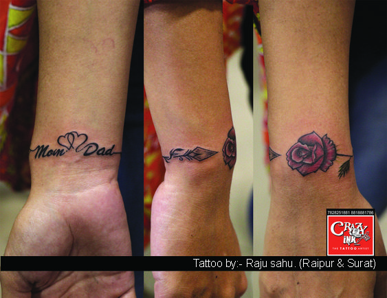 Crazy Ink Tattoo And Body In Raipur India Mum And Dad Tattoos Mom Dad Tattoo Designs Dad Tattoos