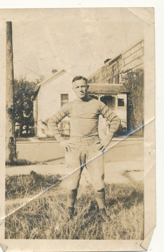 Vintage Old Picture Photo Man in Football Uniform | eBay