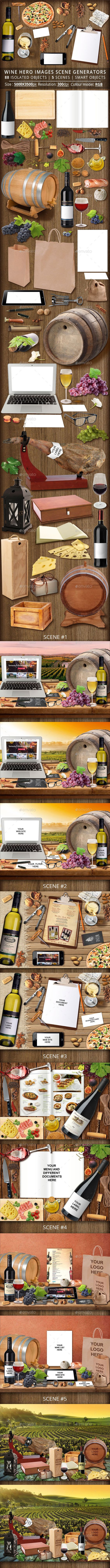 Wine Hero Images Scene Generators #psd #mockup #scene #generator #hero #image #facebook #cover #header