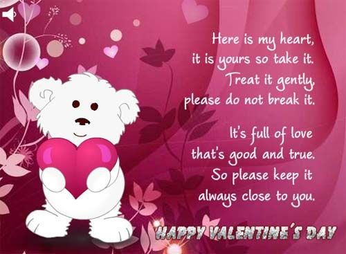 """Cute Valentine\'s Day Card Sayings Roses Are """"Red for Lovers ..."""