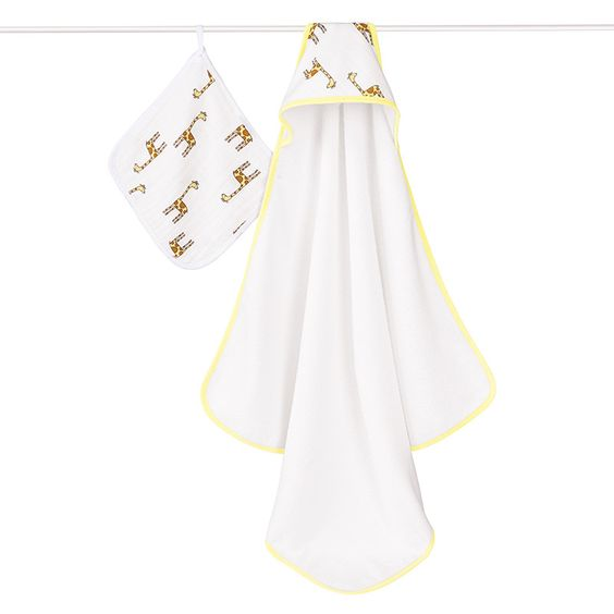 Jungle Jam Hooded Towel & Wash Cloth Set