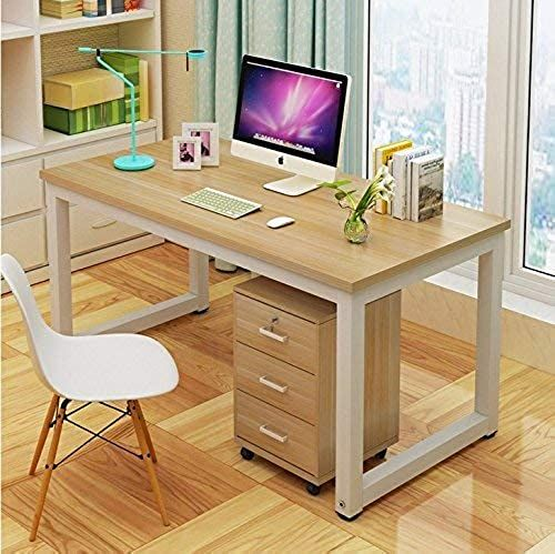 Enjoy Exclusive For Computer Desk 47 Modern Simple Style Pc Table Writing Desk Withworkstation Office Desk Walnut White Leg Online Findandbuytopstyle In 2020 Simple Computer Desk Modern Home Office Desk Office Desk
