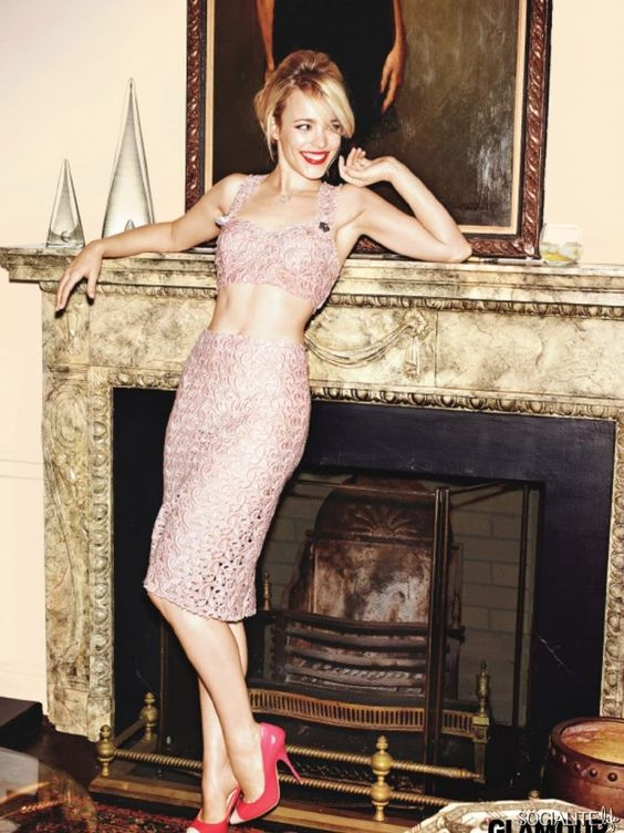 THE VOW star Rachel McAdams in February issue of Glamour Magazine. #TheVow