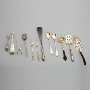 Set of Twelve Silver Objects