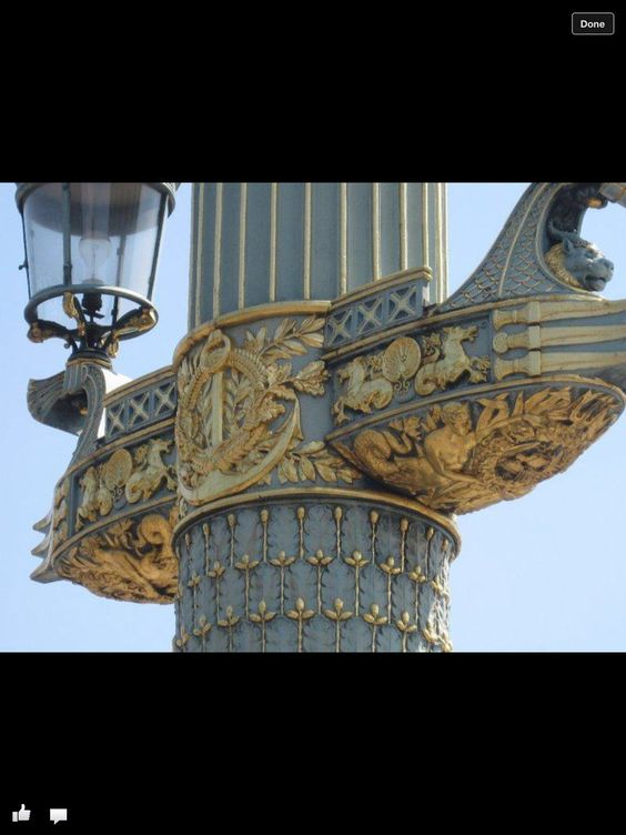 Detail lamp post France