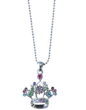 Multicolor Crystal Crown Necklace - Great Christian Necklace for $9.99