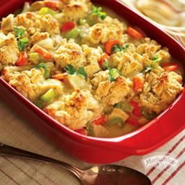 Creamy #Chicken 'n Veggies with Black Pepper #Biscuits from Martha White®